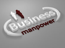 Schild Business manpower